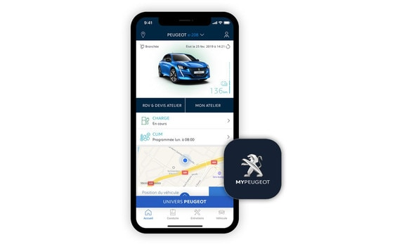 Application mypeugeot