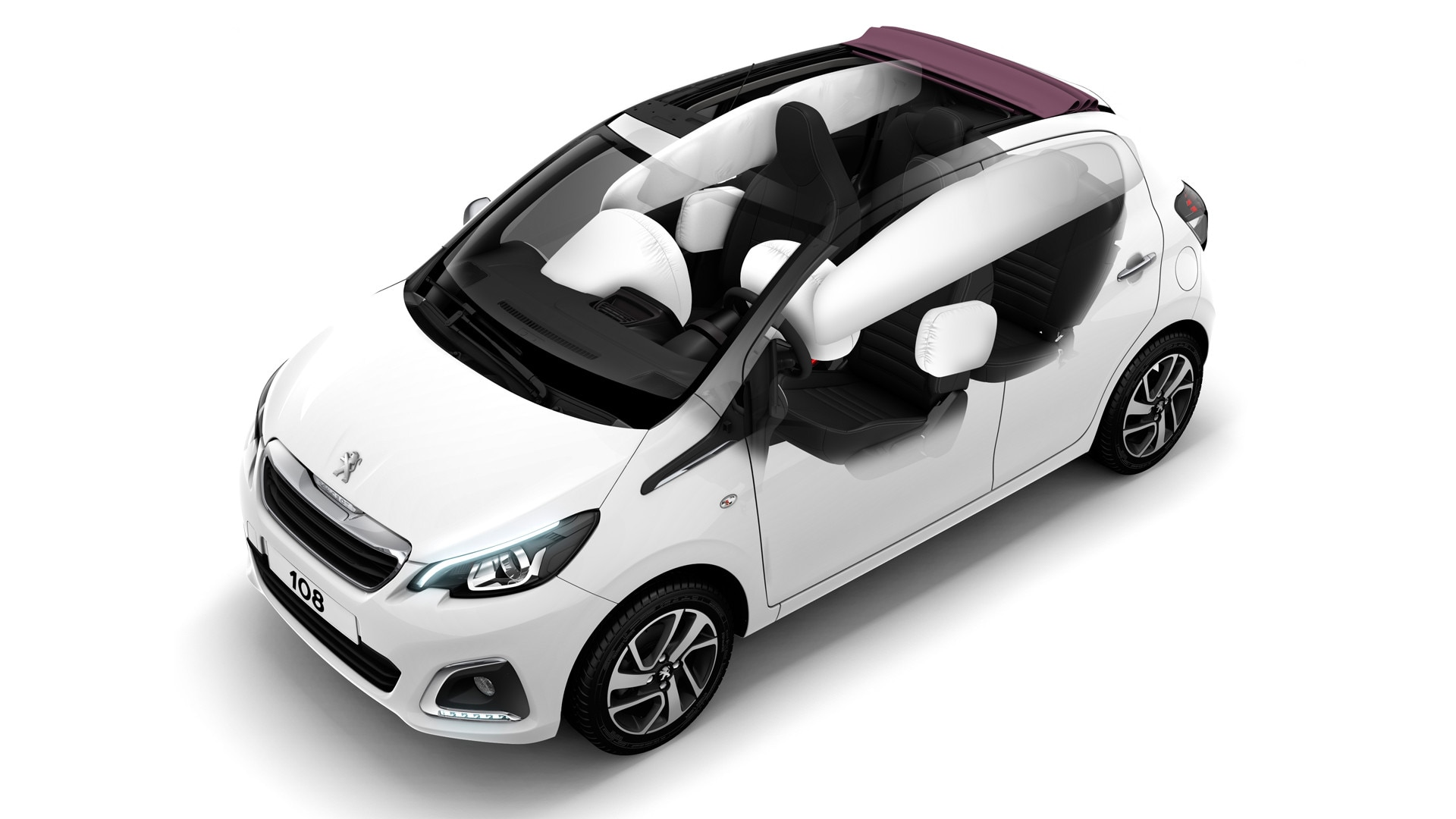 peugeot 108 5 portes photos et vid os de la voiture. Black Bedroom Furniture Sets. Home Design Ideas