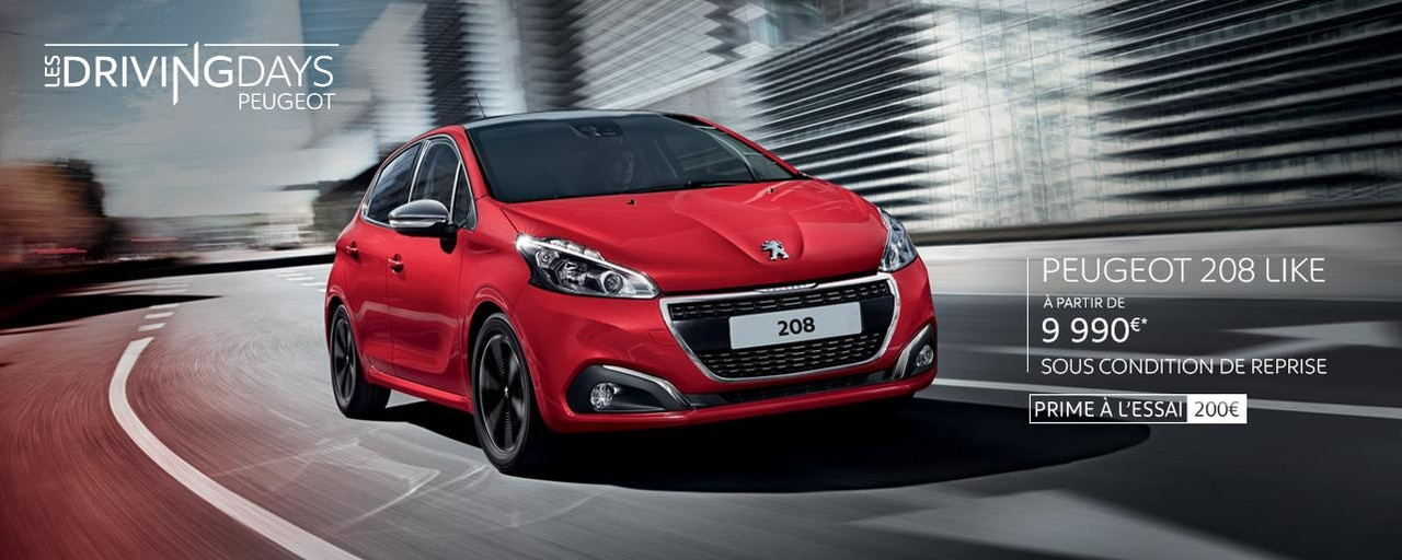 Peugeot 208 Driving days