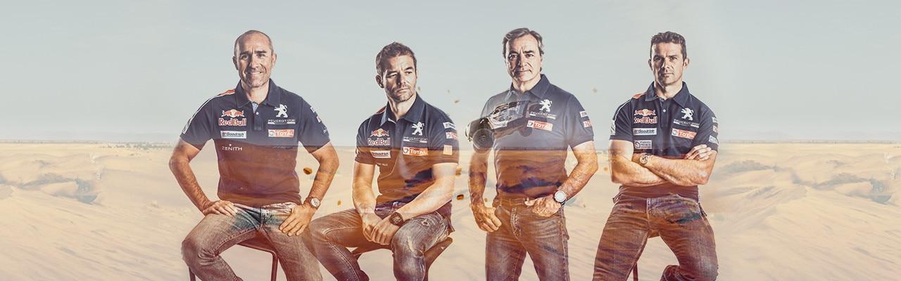 Pilotes du Team Peugeot Total