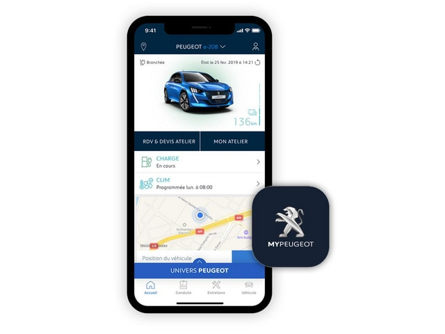 NOUVELLE PEUGEOT e-208 -  Application MyPeugeot