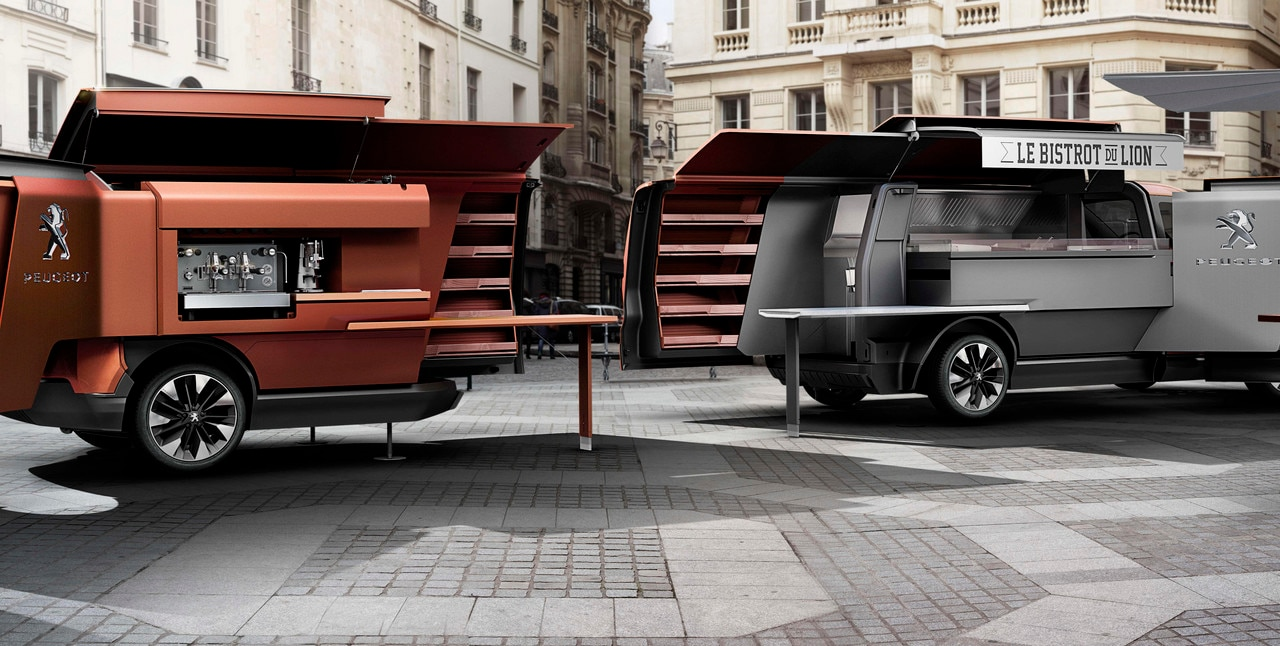 peugeot foodtruck le concept car gastronome. Black Bedroom Furniture Sets. Home Design Ideas