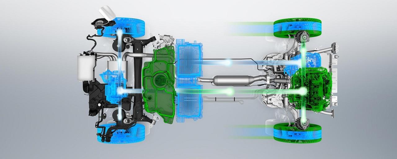PEUGEOT 3008 GT HYBRID4: Mode 4WD (moteur thermique & boost électrique)