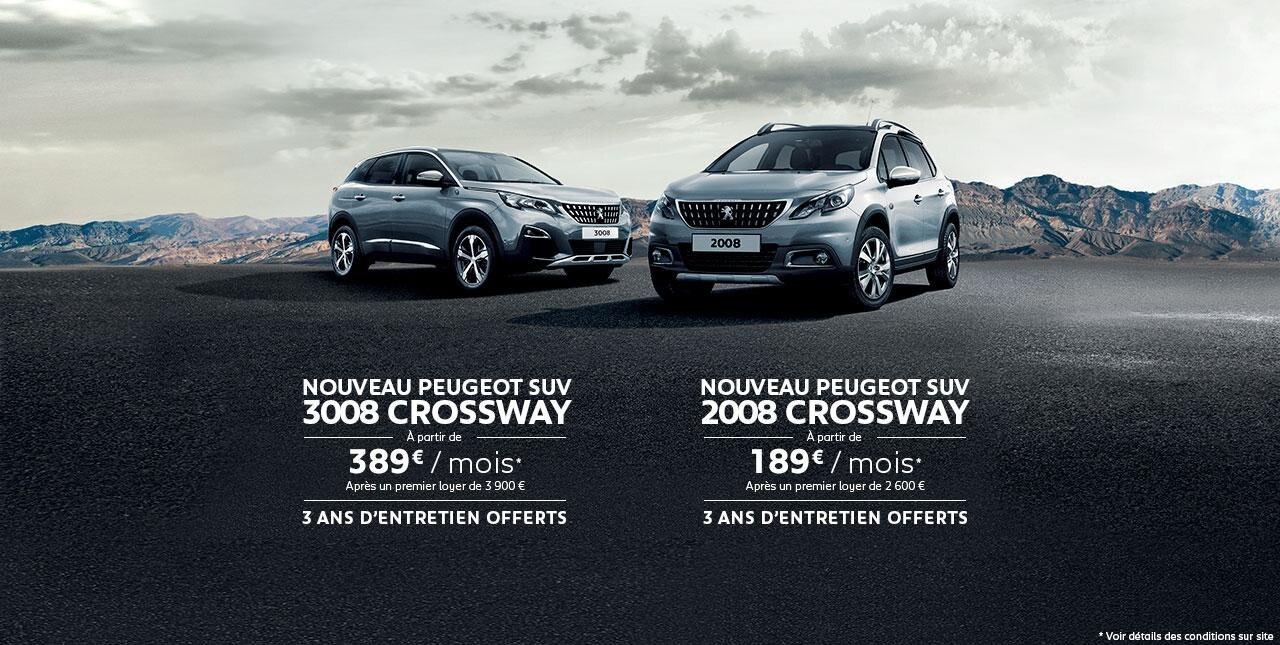 Peugeot 2008 et 3008 crossway