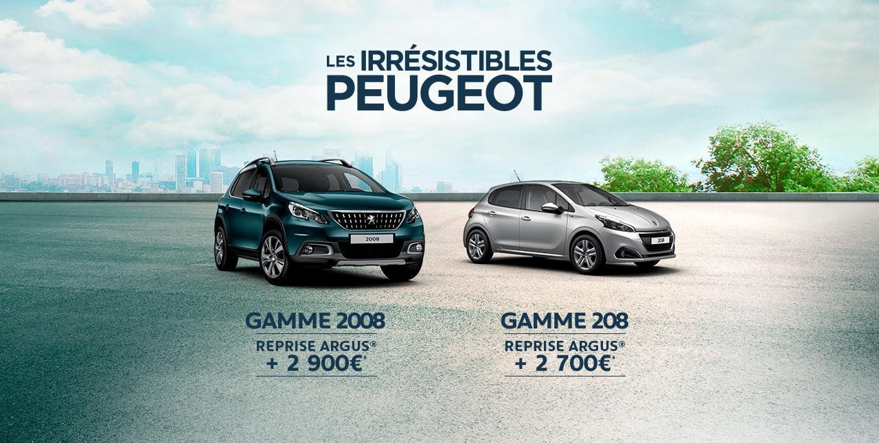 Offre Peugeot Les Irresistibles