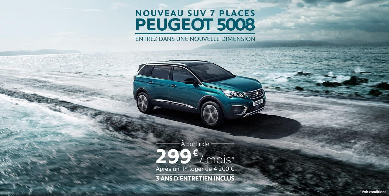 Offre Peugeot SUV 5008 sans PO