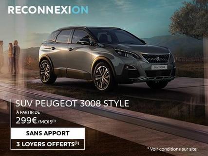 Reconnexion SUV Peugeot 3008