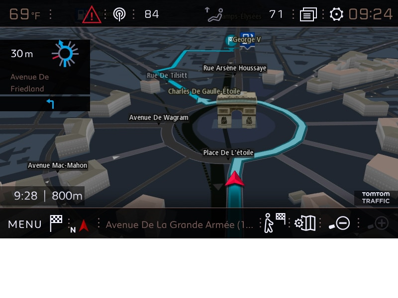 gps 3d peugeot navigation connect e avec les services tomtom. Black Bedroom Furniture Sets. Home Design Ideas