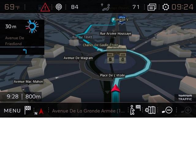 Navigation 3D connectée PEUGEOT - Capture d'écran