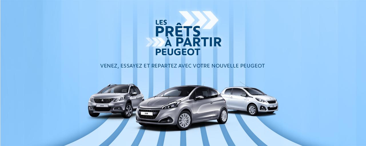 Les prêts à partir Peugeot, 108, 208, 2008