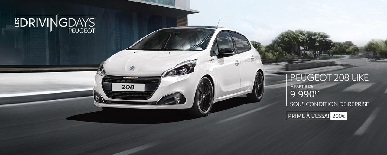 Peugeot 208 offre Driving Day's