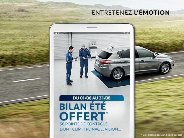 Promotion bilan offert