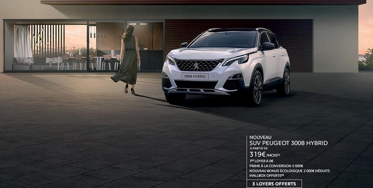 Nouveau SUV PEUGEOT 3008 HYBRID