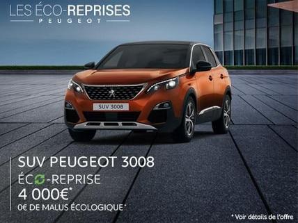 OFFRE LES ECO-REPRISES SUV PEUGEOT 3008