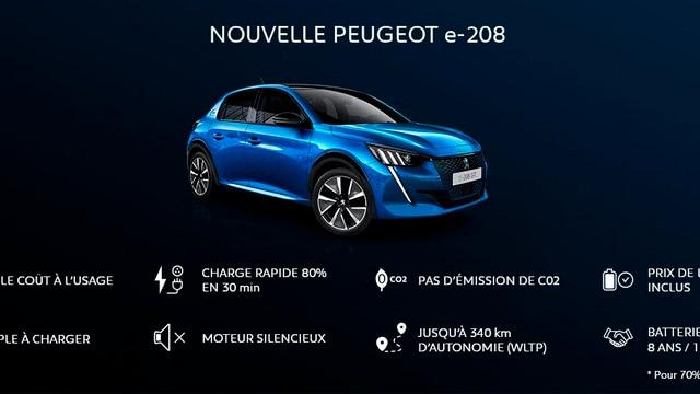 NOUVELLE PEUGEOT e-208  – Avantages de la PEUGEOT e-208