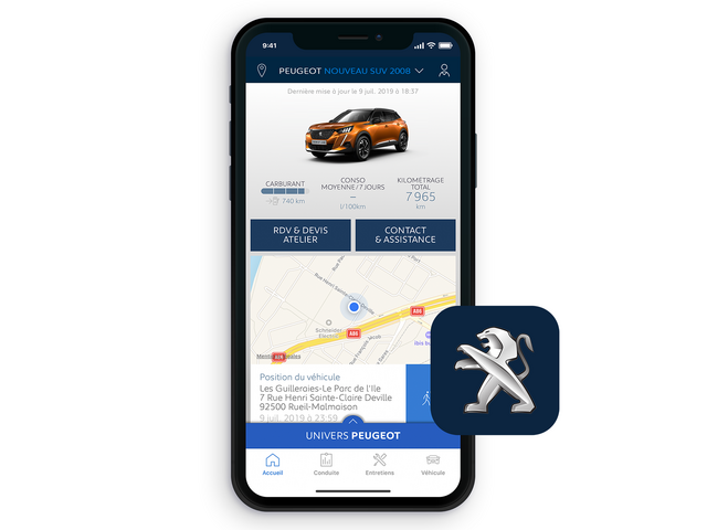 Nouveau SUV PEUGEOT 2008 : Application MyPeugeot®