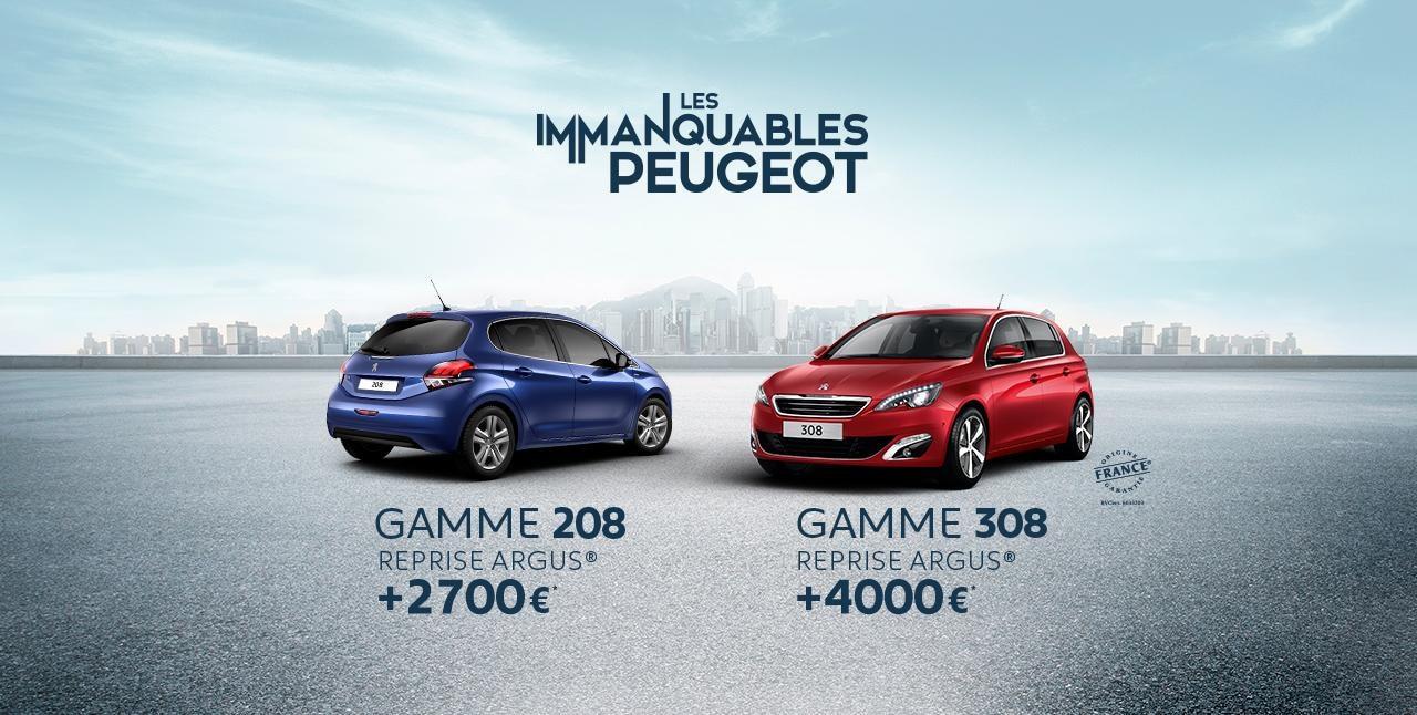 Offre Immanquables Peugeot