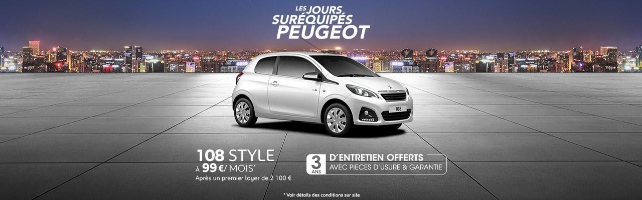 Offre Peugeot 108 style