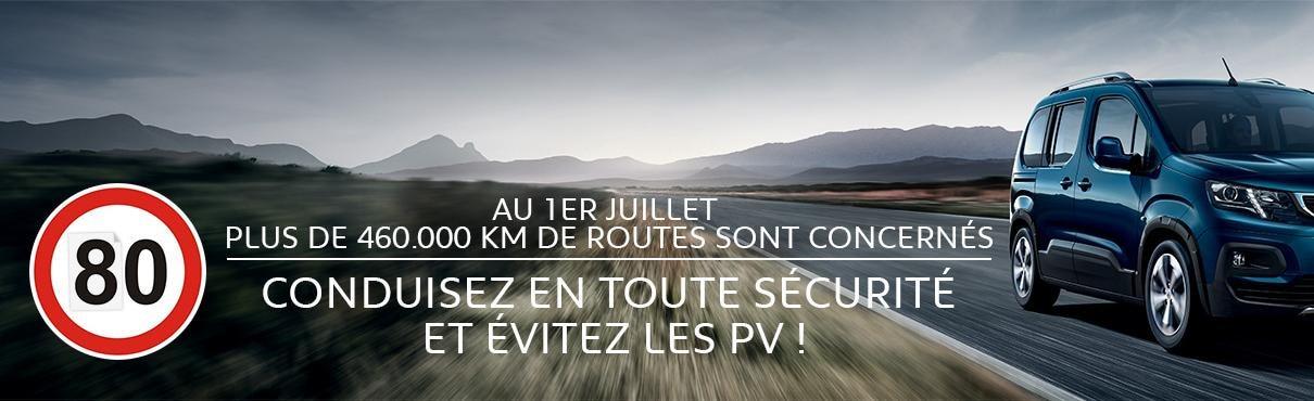 nouvelle cartographie passage A 80km/h