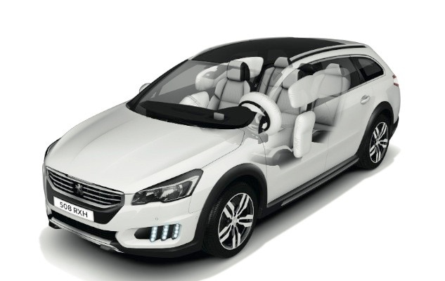 s curit peugeot 508 rxh le break hybride performant tout terrain. Black Bedroom Furniture Sets. Home Design Ideas