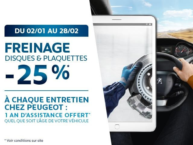 offre freinage Peugeot