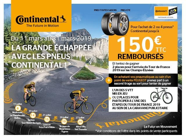 Offre Continental mars avril 19