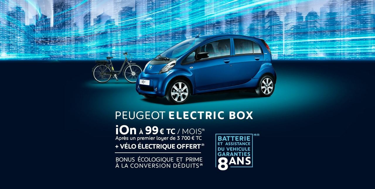 Peugeot ion offre electric box